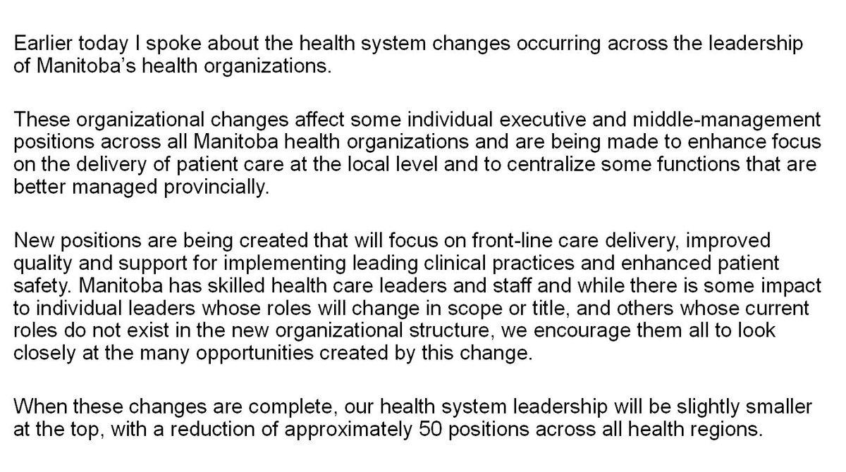 test Twitter Media - RT @CameronFriesen: Please see my full statement on health system leadership changes:  #mbpoli https://t.co/vMglQT7I7Q