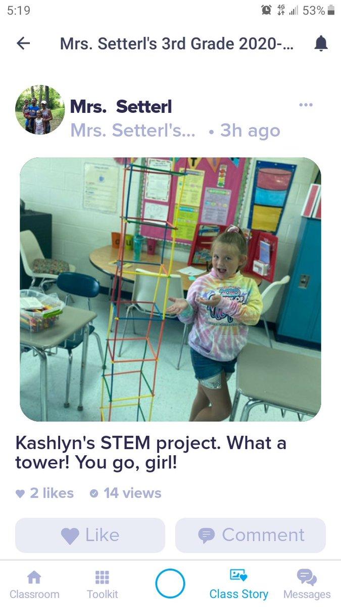 Distance STEM project at New River Intermediate. Great job Kashlyn! #STEMeducation #FayetteBridgeToSuccess
