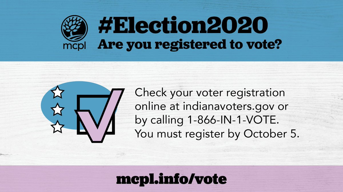 It's National Voter Registration Day! Are you registered to vote for #Election2020? 60% of eligible voters are never asked to register. You don't have that excuse. Register now at ! For more voting resources visit .