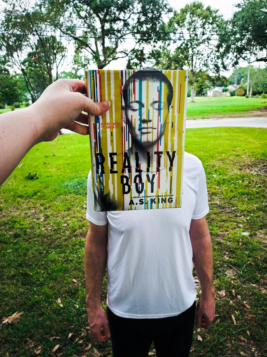 It's #BookFaceFriday and this week we're featuring Reality Boy by A.S. King!  @AS_King #bookface #myAPL