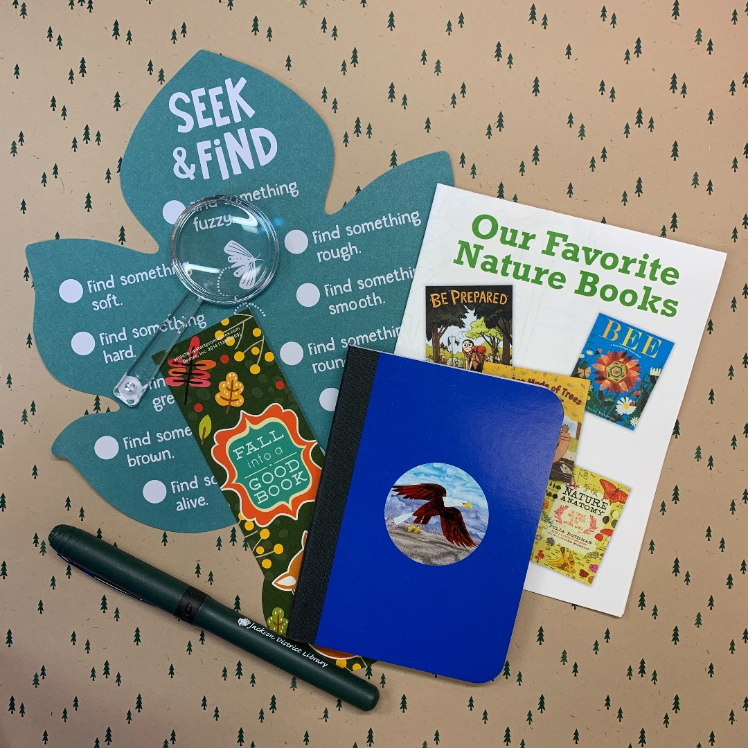 The Meijer Branch is offering take-home Nature Explorer kits! Stop by and pick one up – available while supplies last.