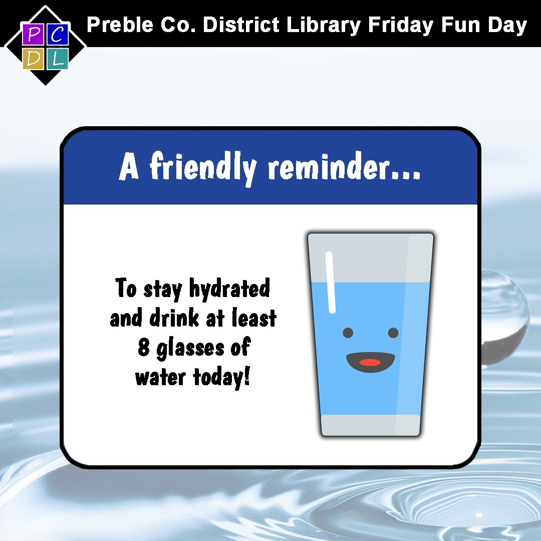 This is a reminder to drink at least 8 glasses of water! 💧🥤  Benefits include: ▶keeping your body temp within normal range 🌡 ▶lubricating and cushioning your joints 🦴 ▶helps you eliminate waste through urine, sweat, and bowel movements  Source: