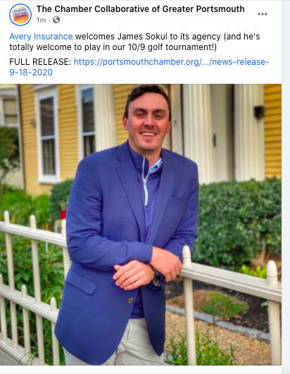.@averyins welcomes James Sokul to its agency (and he's totally welcome to play in our 10/9 golf tournament!) FULL RELEASE: