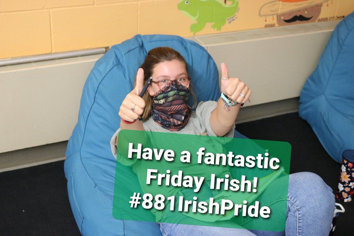 RT @SuptMapleLake: @MapleLakeISD881 staff and students have a great day!  #881IrishPride