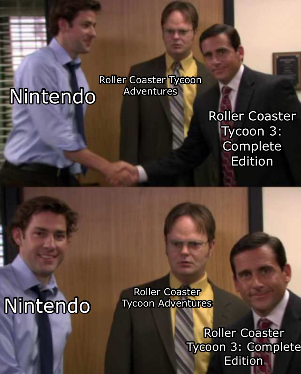 In this house, we would like to forget Roller Coaster Tycoon Adventures ever existed:  #Nintendo #NintendoSwitch #NintendoDirect #RollerCoasterTycoon #RollerCoasterTycoon3