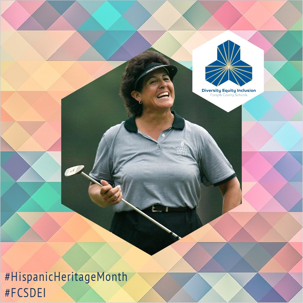 Golfer Nancy Lopez won 48 LPGA Tour events during her LPGA career, including three major championships. Learn more at  #FCSDEI #ForsythAthletics