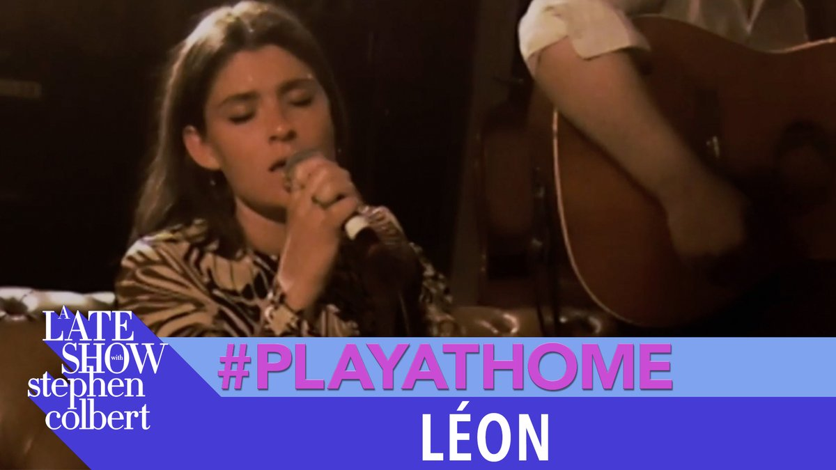 """.@itsleonmusic delivers a performance of her brand new single """"Head And Heart On Fire"""" #PlayAtHome"""