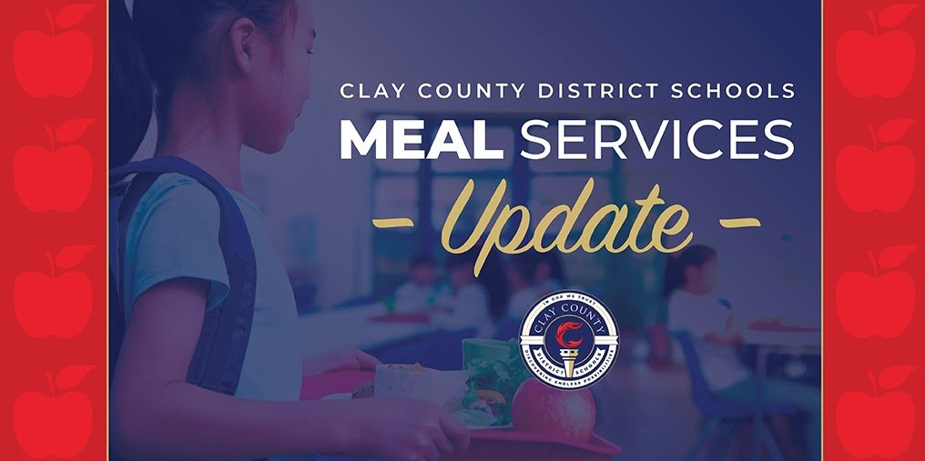 FREE Breakfast and Lunch Starts Monday: The USDA has announced an extension of the Summer Food Service Program. Starting September 21st, all Clay County students will receive breakfast and lunch free of charge with no application. More here: