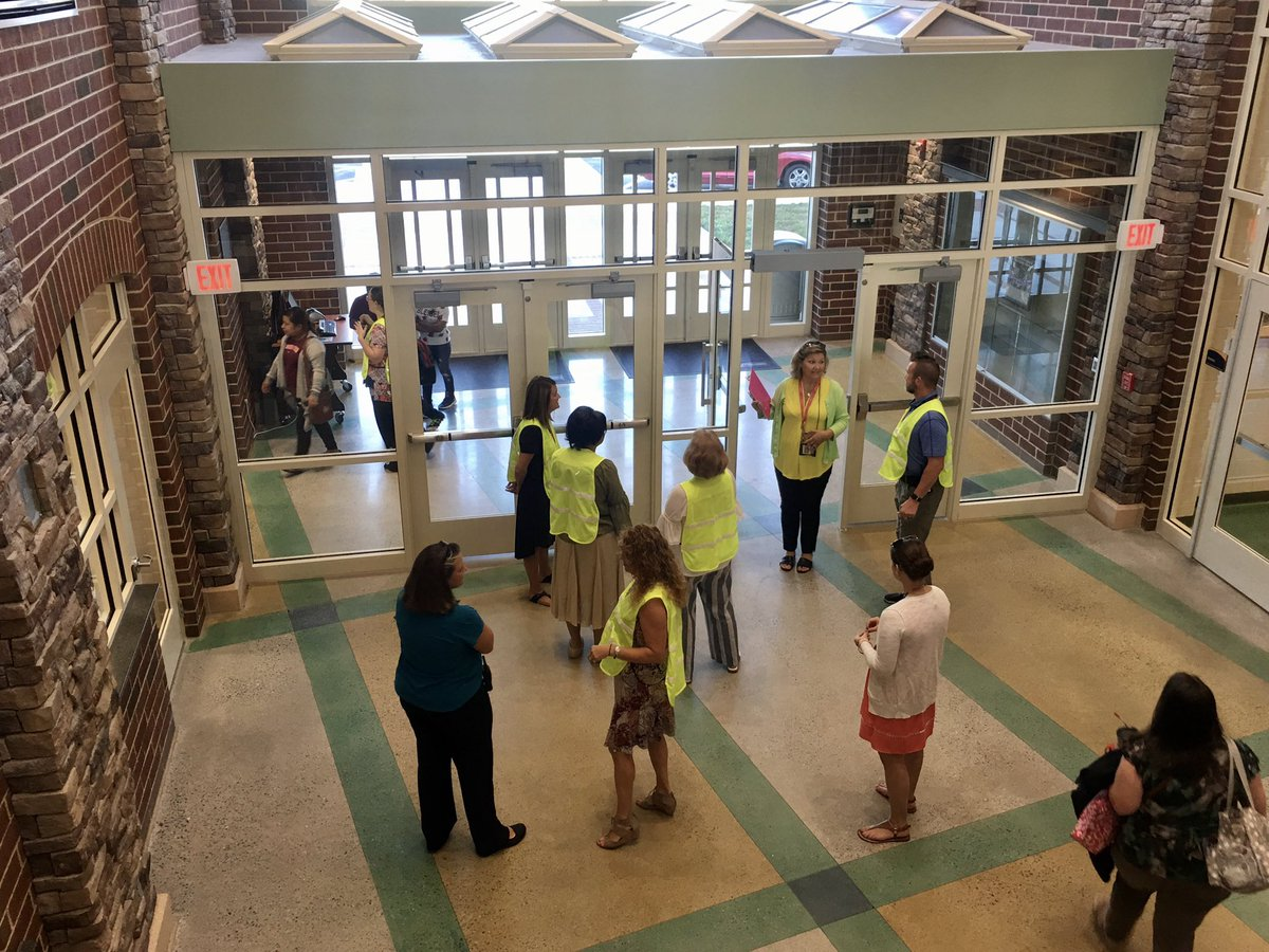 #funfactfriday When Meadow View Elementary, our newest school, was built, all areas were designed to maximize energy efficiency through day lighting. (Photo from opening day in 2018)