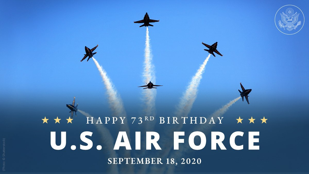 Happy 73rd Birthday to the @usairforce. Today, let us all recognize & honor the brave men & women of the #AirForce who proudly serve our country!
