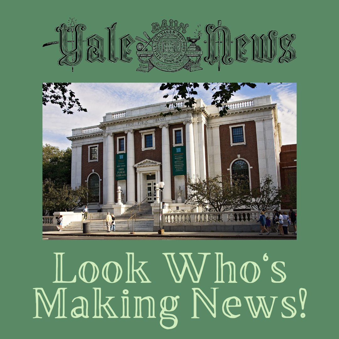 Look who's making news! NHFPL was mentioned today in an article for the Yale Daily News highlighting our continued efforts to bring the public our books and other helpful resources during the pandemic. Read the article at ! 😊