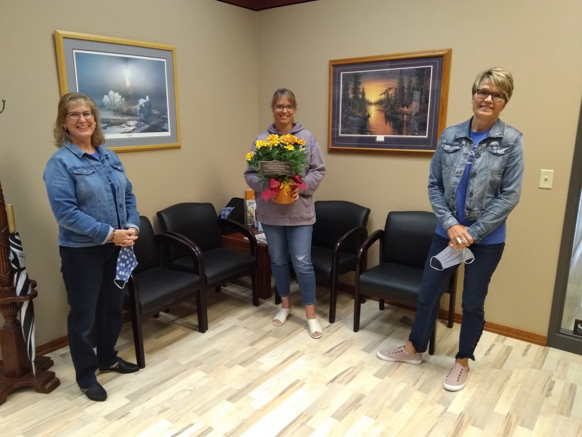 CELEBRATING ANNIVERSARIES WITH OUR MEMBERS!  30+ Years: Otto Assoc, Stellis Health, WCEDP,  10+ Years: Green Bookkeeping, LLC   We had fun delivering beautiful plants from Buffalo Floral and know that we are smiling under those masks!