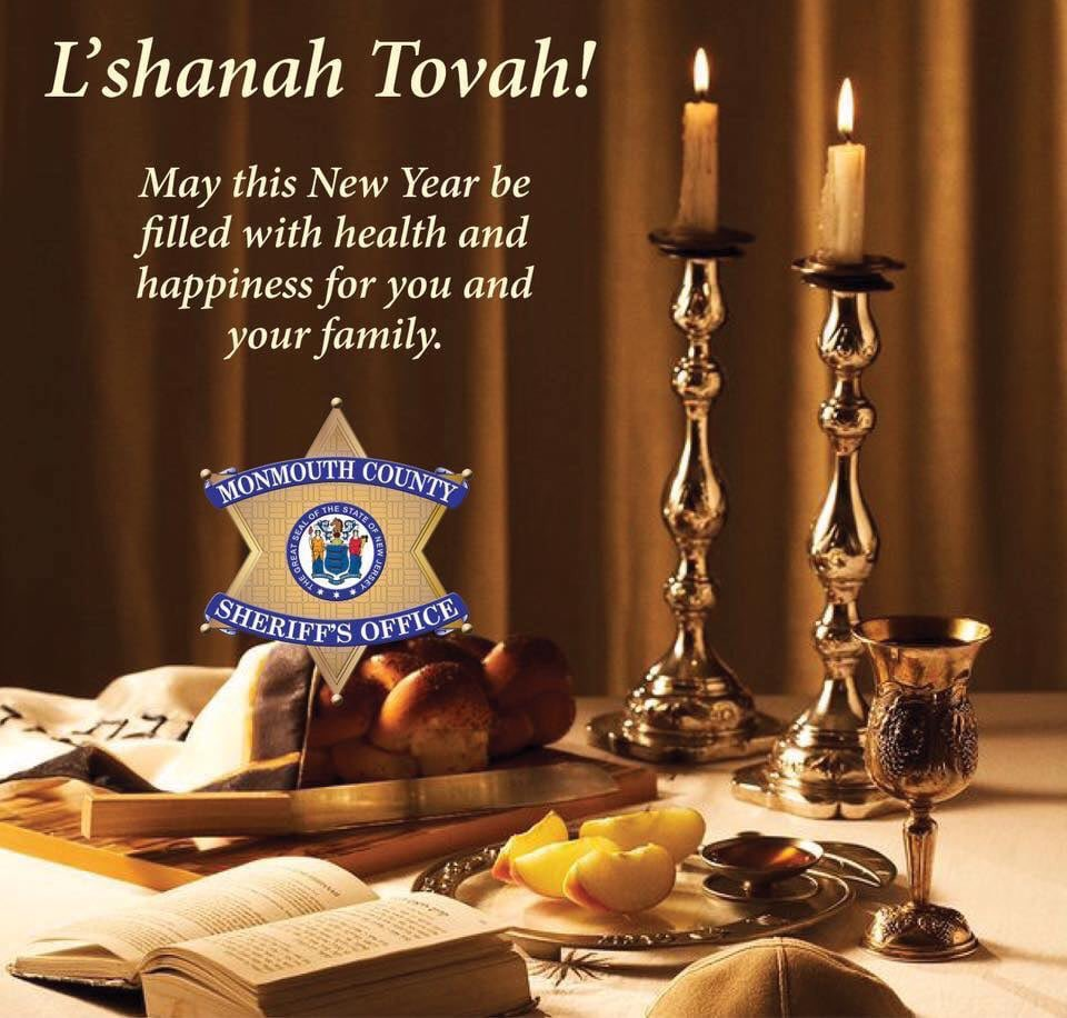 .@SheriffGolden and the #MCSONJ wish all who celebrate #RoshHashanah a happy and healthy new year.