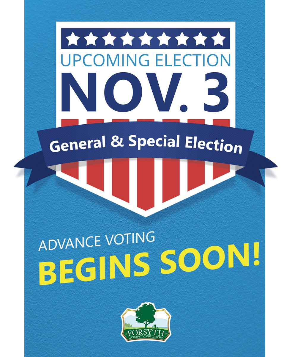 Advance Voting for the Nov. 3 General and Special Elections begins Monday, Oct. 12. Learn more about Advance Voting: