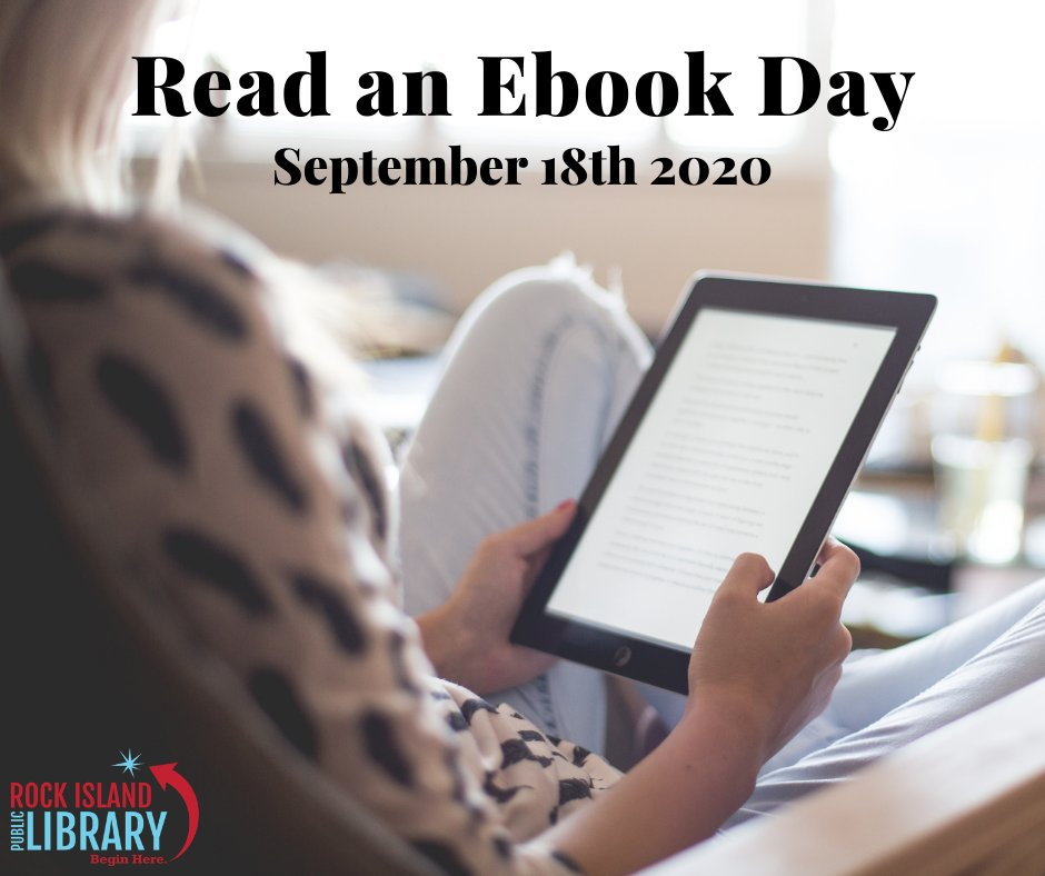 Today is #ReadAnEbookDay and we want to know how you're celebrating! What ebook are you reading this weekend? 📚📖😃  For more information on how to access ebooks, audiobooks, & more visit our website page on online content: