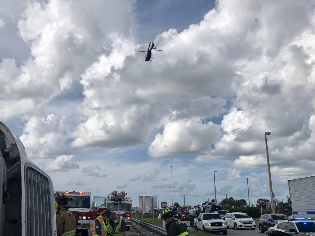 At 3:42 yesterday, several units were dispatched to mm145 on the turnpike. Two trauma alerts transported: one by air, one by ground. One addition patient transported by ground. Excellent job by crews. One of the trauma alerts required extrication with the jaws of life.