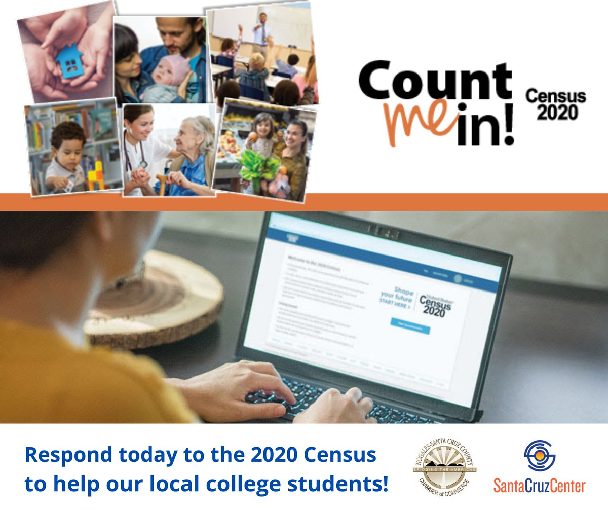 Respond today to the #Census2020 to help our local college students! From finding a job to continuing your education, the 2020 Census can shape your next decade. Learn more at . #AZCounts #NogalesArizona #SouthernArizona