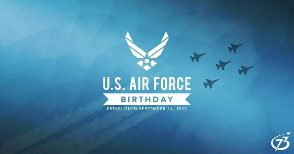 A very happy 73rd birthday to the @usairforce ! Thank you for all you do!