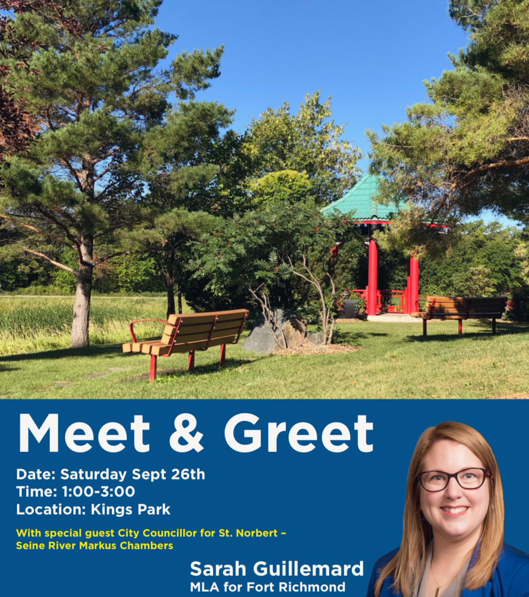 test Twitter Media - Mark your calendars Fort Richmond! I am looking forward to visiting with neighbours & friends along with City Councillor @MarkusAChambers on Saturday, Sept. 26th at King's Park.  Hope to see you there! ☀️🍁🍃🍂 https://t.co/CYqPFSFAt1