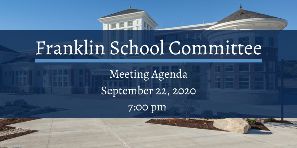 Find the agenda for the September 22nd School Committee meeting here