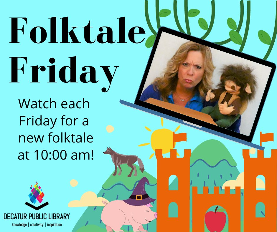 Watch our Facebook page each week for a new folktale told by DPL Children's staff!  You can also watch past episodes through our website:
