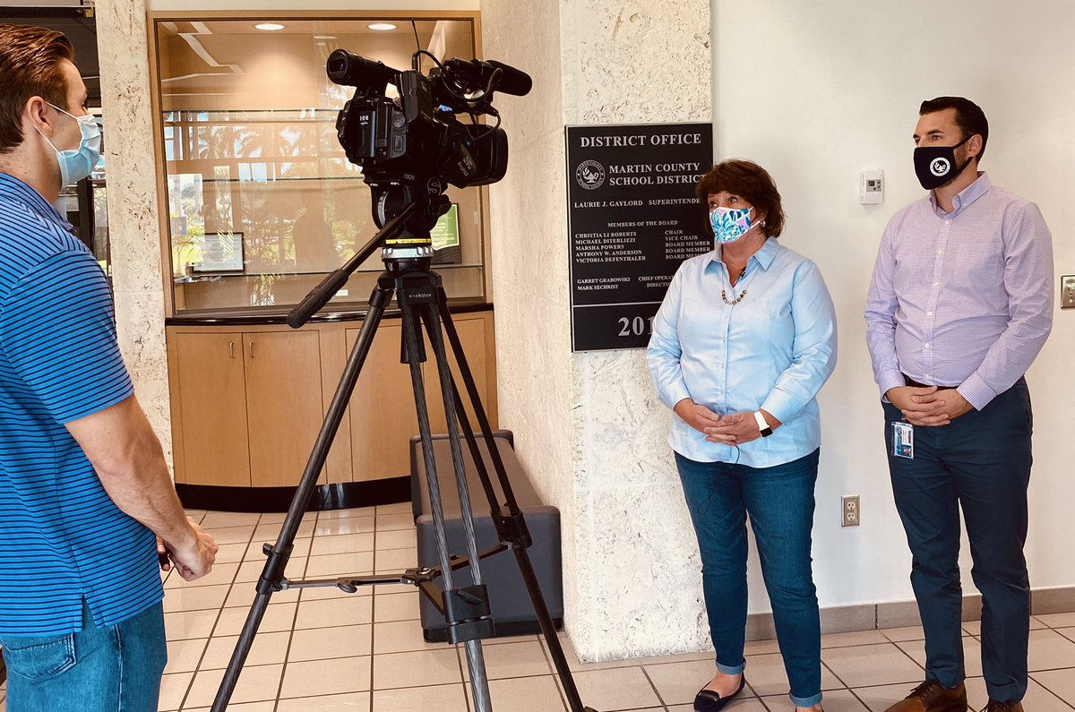 Julie Sessa and Don Calderone of @MCSDFlorida's Risk Management Office spoke with @WPTV's @DerekLoweNews  about the importance of families being aware of the symptoms of #COVID19 and doing their part to keep our students healthy and safe. #ALLINMartin👊