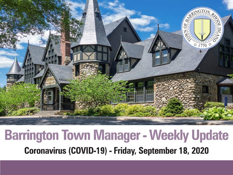 View the Town Manager Update for Friday, September 18th:
