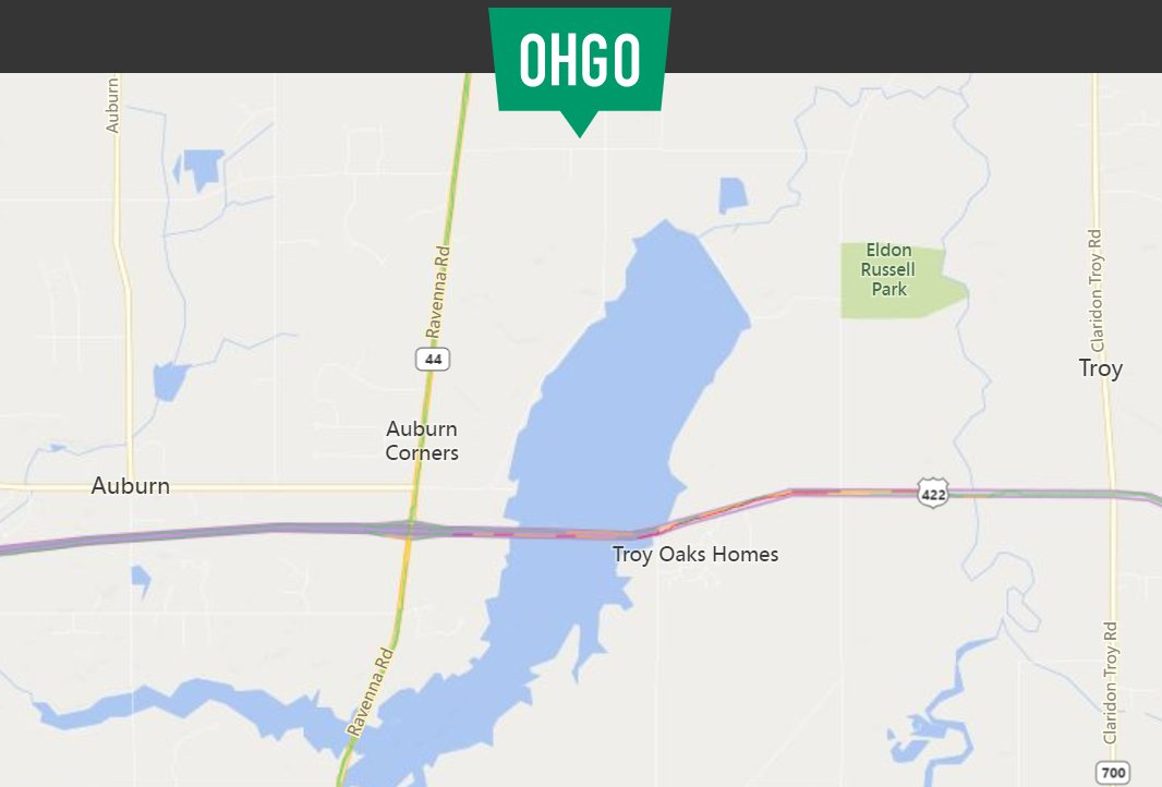 Traffic Alert: U.S. 422 between SR 44 and SR 700 in Geauga County is closed due to a crash. Please use caution and avoid the area. Check OHGO for updates.