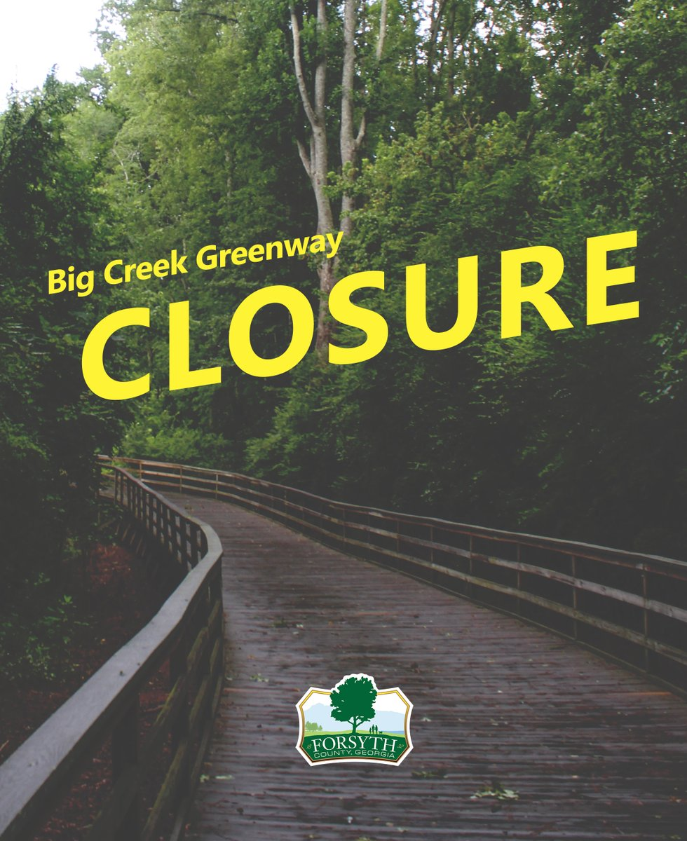 A section of the Big Creek Greenway multi-use trail from McFarland Parkway (mile marker 1.5) to Union Hill Road (mile marker 3.6) has been temporarily closed for a renovation project. For more information: