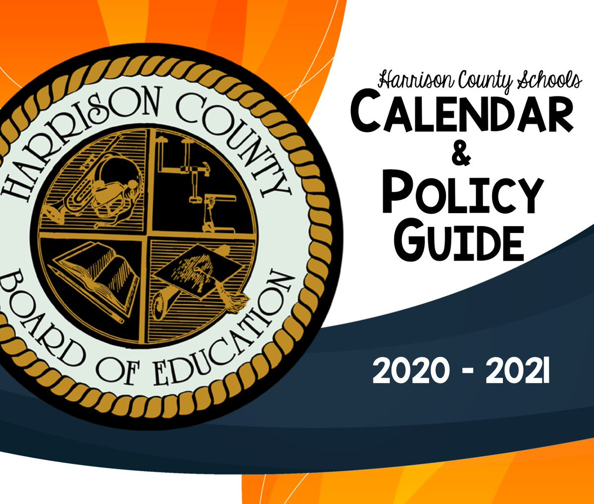 Harrison County Schools is pleased to be working with our families. If you have not reviewed it yet, the 2020-21 Harrison County Schools Calendar and Policy Guide is available here .