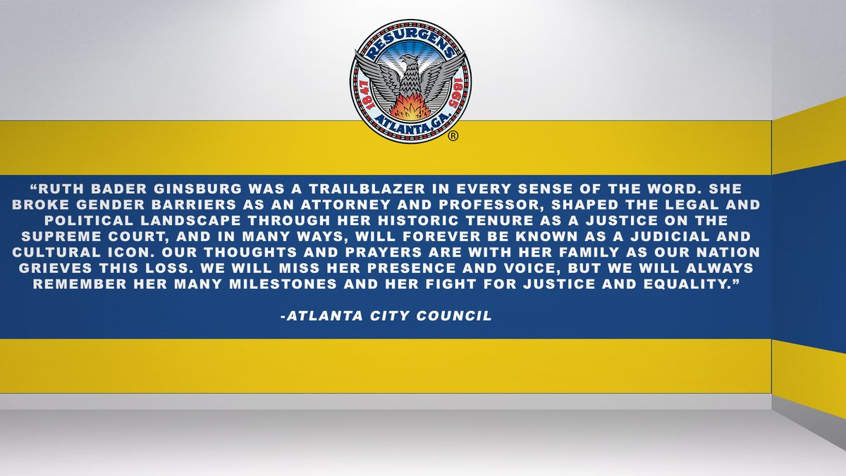 Statement from the Atlanta City Council on the Passing of Justice Ruth Bader Ginsburg