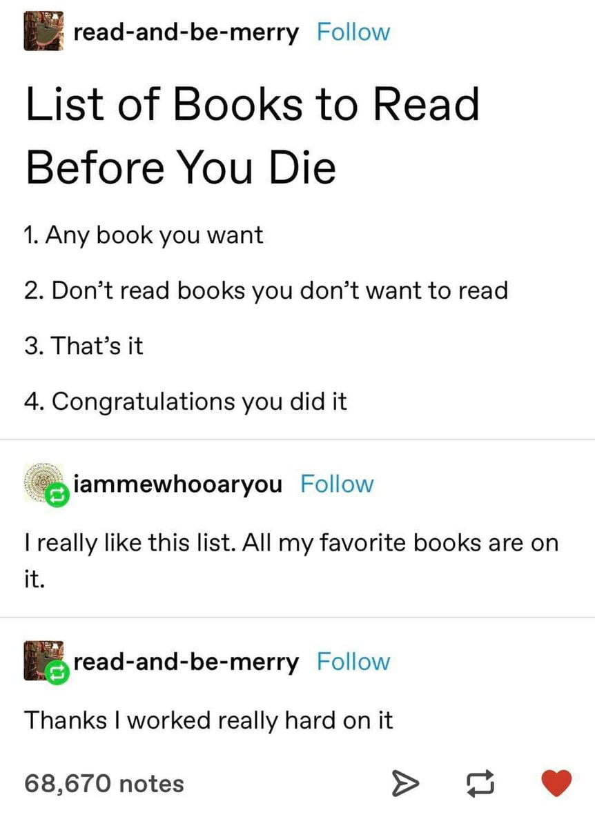 Finally! The perfect reading list!