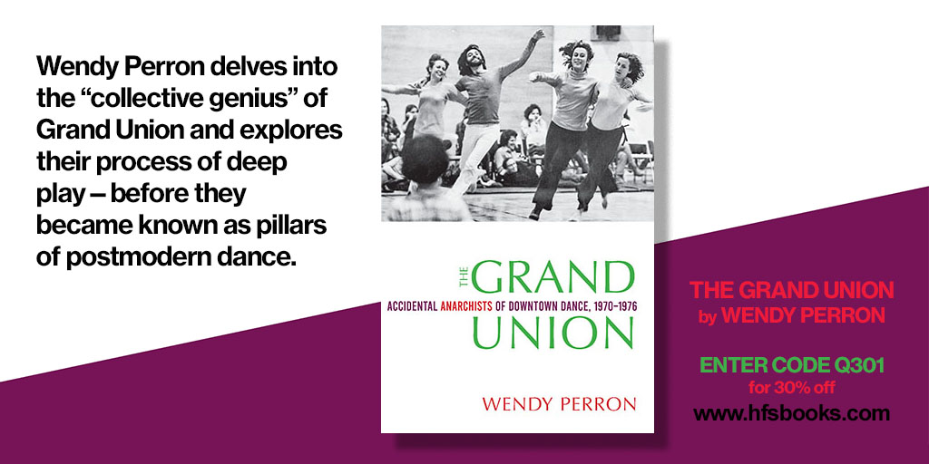 """test Twitter Media - Happy National Dance Day! Check out Wesleyan's dance books, including """"The Grand Union: Accidental Anarchists of Downtown Dance, 1970–1976,"""" by Wendy Perron. #NationalDanceDay https://t.co/nJVwzBtqhl https://t.co/Db1naJXurw"""