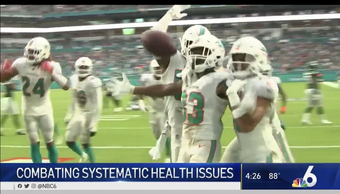 test Twitter Media - Thanks @nbc6 for the opportunity to talk about @MiamiDolphins $1M commitment to @Nicklaus4Kids to combat systematic health issues in the minority community #FootballUnites #community #covid19 #diabetes #sicklecell https://t.co/OTaSuP4chV