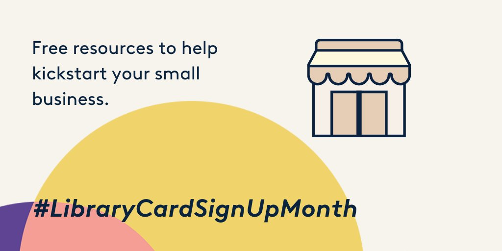 Need small business help without breaking the bank? Our library has the resources for you.  #LibraryCardSignUpMonth