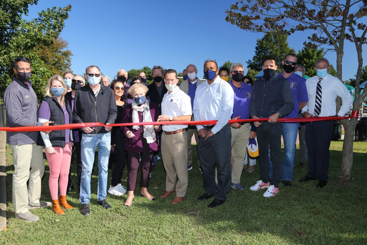 It's a great day for all children in #MonmouthCounty! @FreeholderBurry cut the ribbon welcoming the Lion's Sensory Den, an addition to the Challenger Place playground at @MonCountyParks Dorbrook Park. It is designed to be inclusive of blind or visually impaired children.