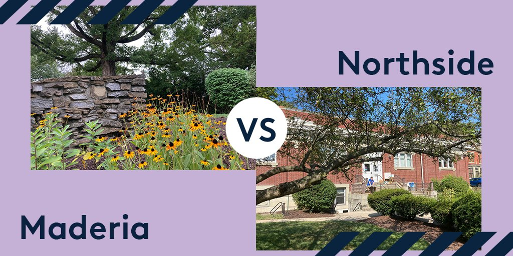 Today's Best Of: Outdoor Spaces tournament challenge is here. Click to vote between Northside and Madeira!