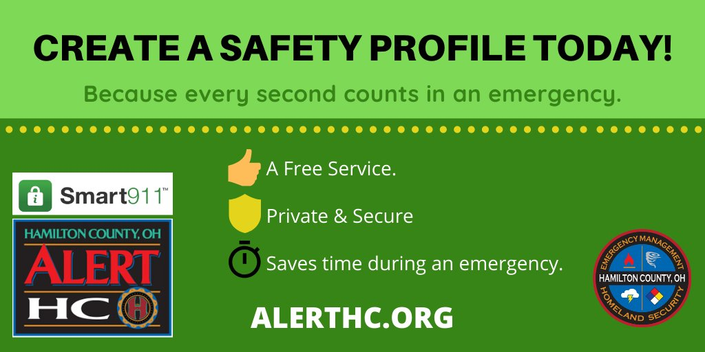 What have you done this week to be more prepared for emergencies? Take 10 minutes today to sign up for the life-saving Smart911 technology and opt into weather alerts from Alert HC! #BePrepared