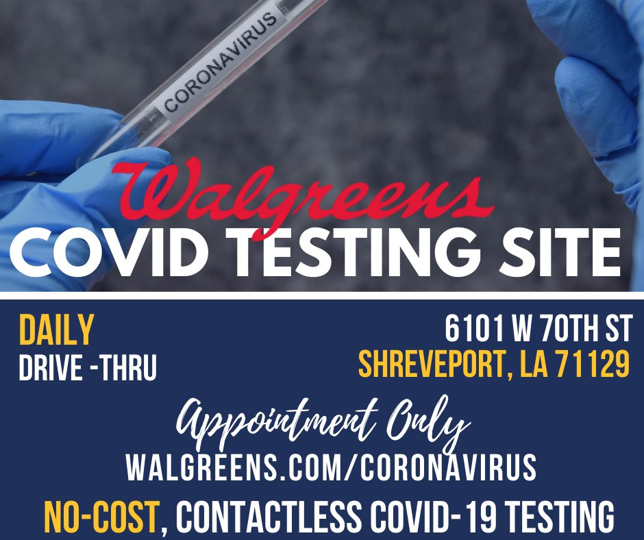 Walgreens is offering no-cost, contactless, COVID-19 testing at select locations in partnership with the PWNHealth provider network. ***Appointment Only***  Schedule your appointment here:
