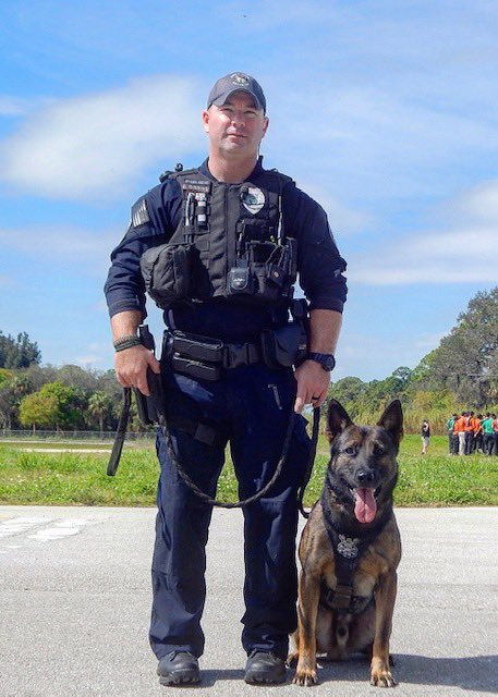 Meet Officer Gibbins and his K9 partner, Dingo. They've been together working hard keeping PSL for over 5 years. Although they love fighting crime, let's do our part, and make sure all valuables are removed from your vehicle and your vehicle doors are locked. Sleep well PSL.