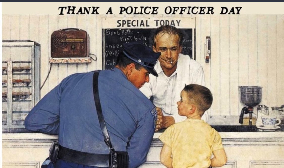 We'd like to say THANK YOU to the amazing men & women of our department. Your job is a tough one. But, you show up day after day, putting your lives on the line for people you don't know & will likely never see again. Today, we thank you. 👏🏻👮🏽👮🏻♂️❤️#thankapoliceofficerday