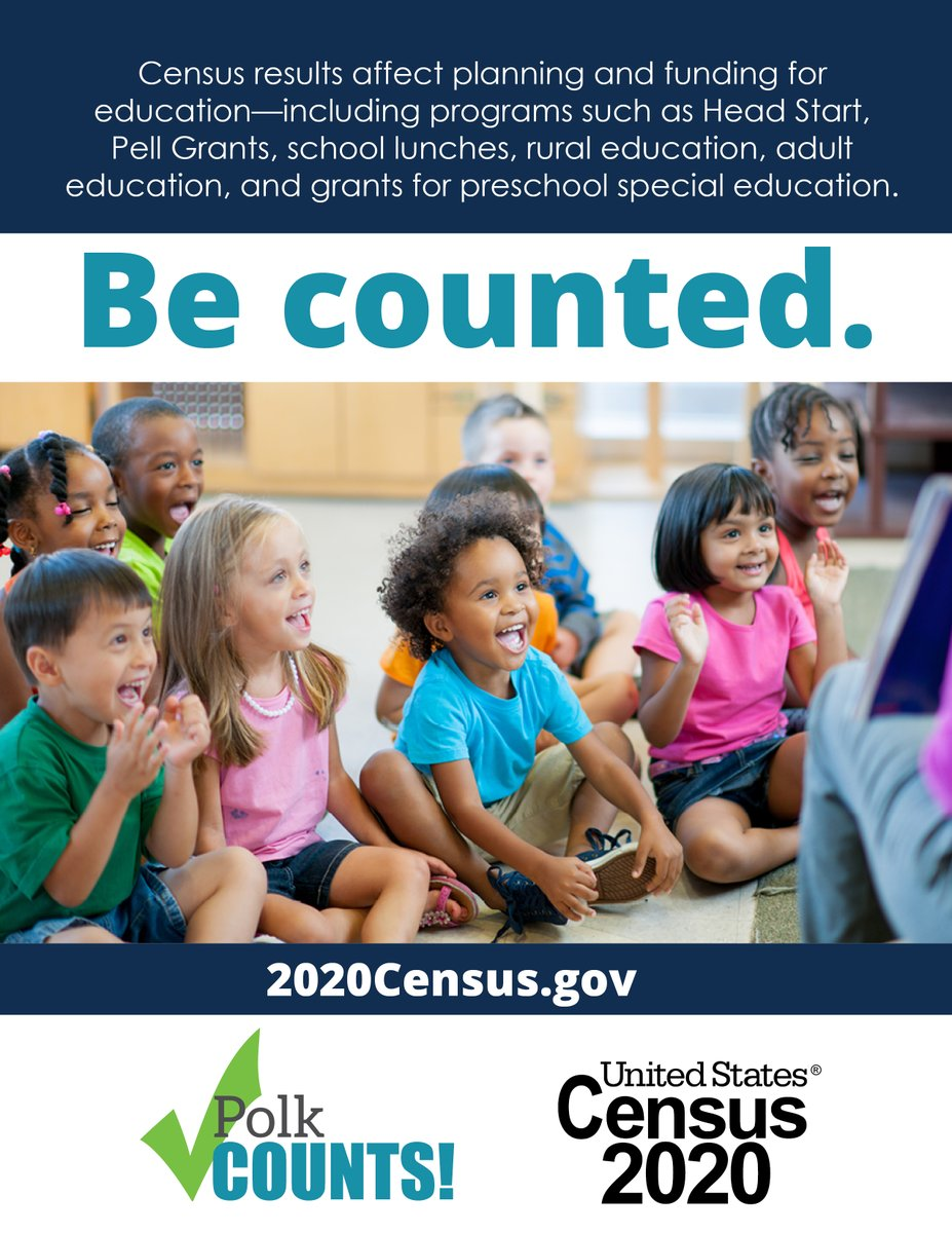Don't forget to fill out your Census forms to help get Polk the funding it needs to support the community. To fill out your Census form, go to .