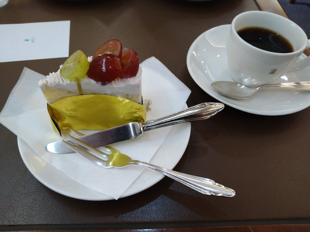 test ツイッターメディア - 銀座ウエストの季節限定葡萄のケーキ。美味しく戴きました #銀座ウエスト https://t.co/whJxxuoBIr