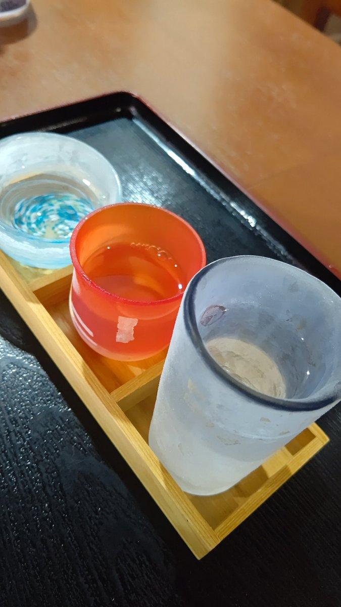 test ツイッターメディア - 混んでる駅前の商業施設は避けまして、近所の料理屋へ。 時間的にご飯がないという事でしたので、秩父呑み比べとホルモン焼きをいただきました。 因みに呑み比べは、秩父のお酒3種、秩父錦と武甲正宗と秩父小次郎です。 乾杯~🍶😃 https://t.co/U9Ui2vj1UL