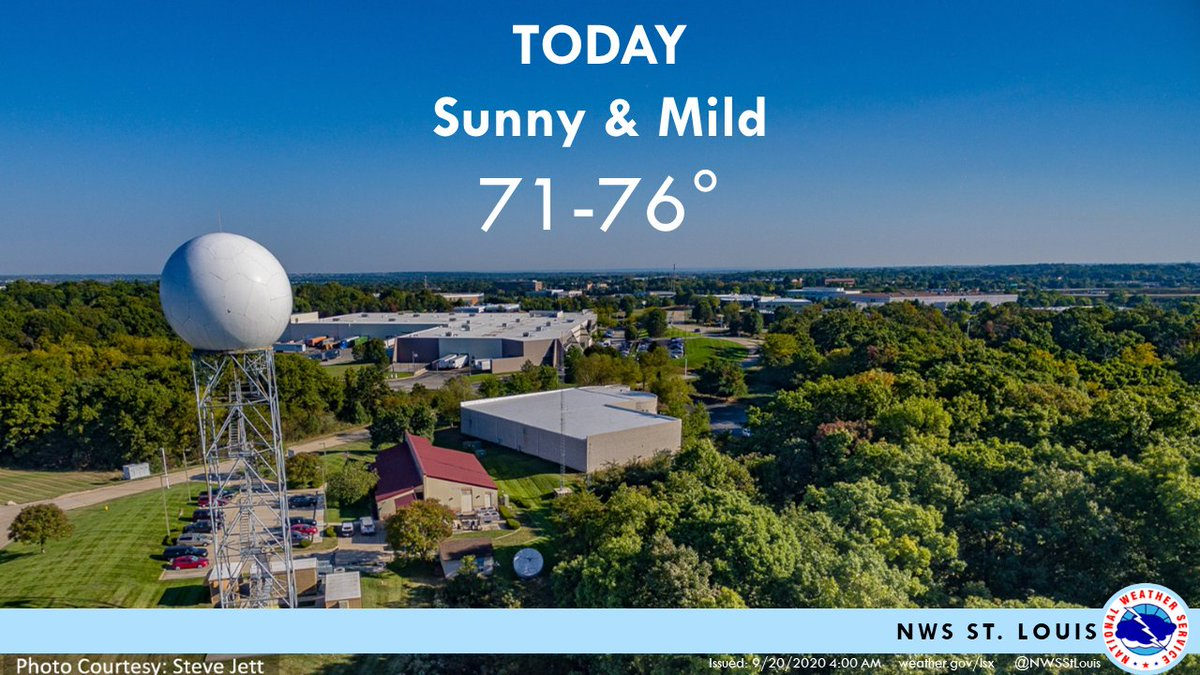 Beautiful fall day across the region with sunny skies 🌞& highs in the low to mid 70s! #stlwx #mowx #ilwx #midmowx