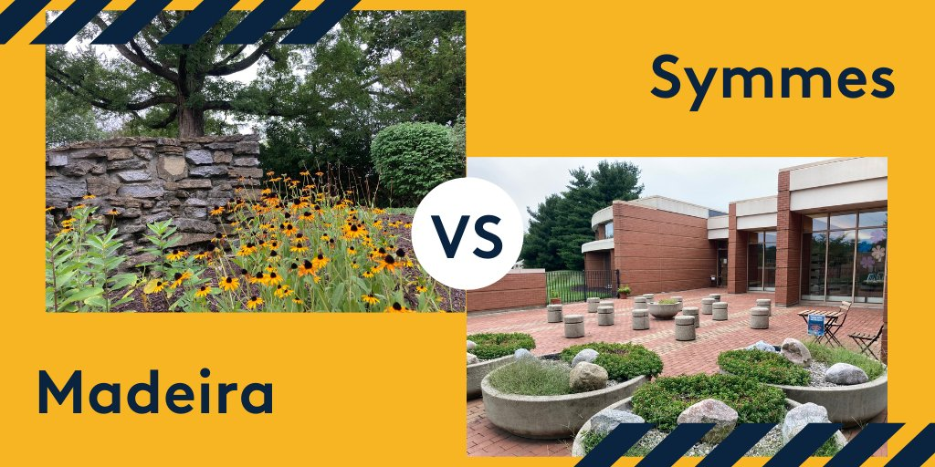 The final round of our Best Of: Outdoor Spaces tournament is here! Cast your vote between our Madeira and Symmes libraries in the next tweet.