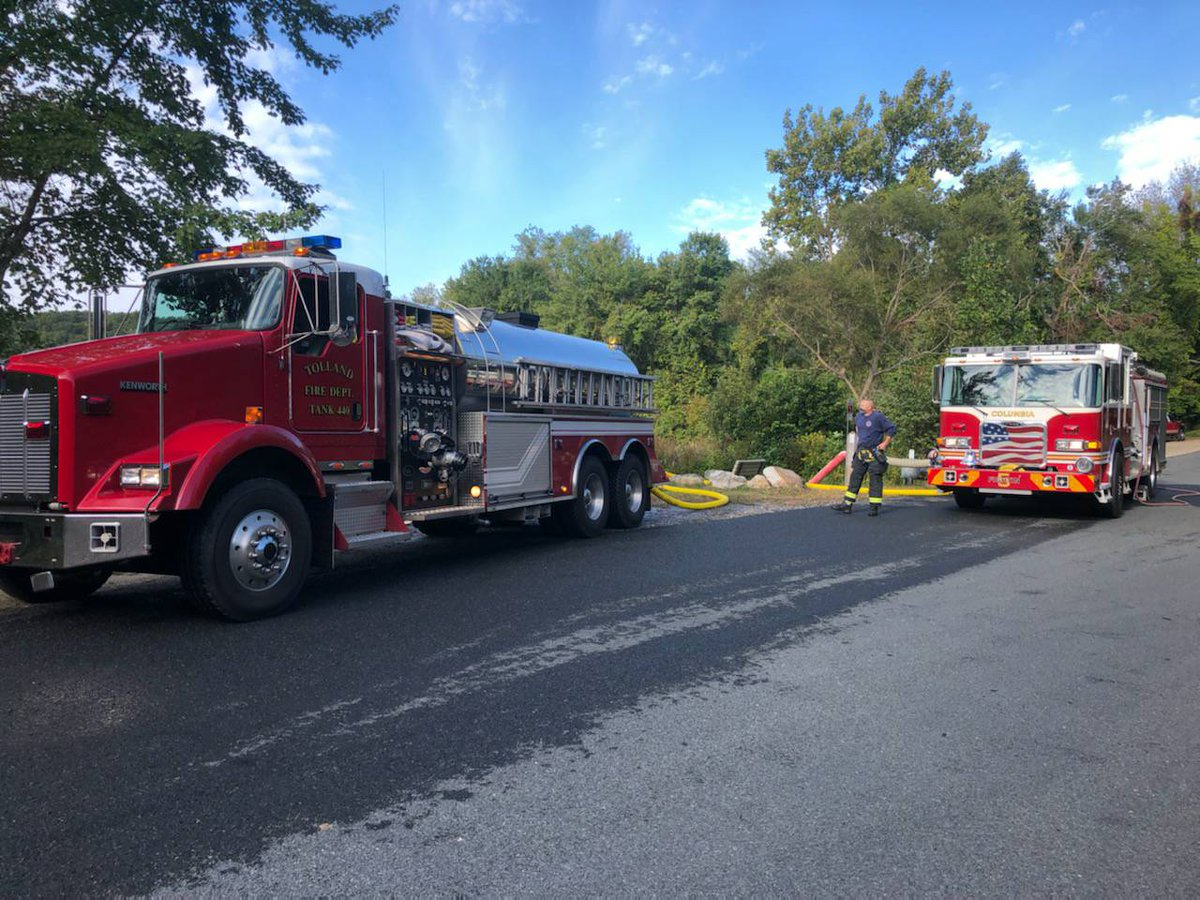 MUTUAL AID: Currently, both of our tanker trucks (T140 & T440) are in Andover assisting with a structure fire.