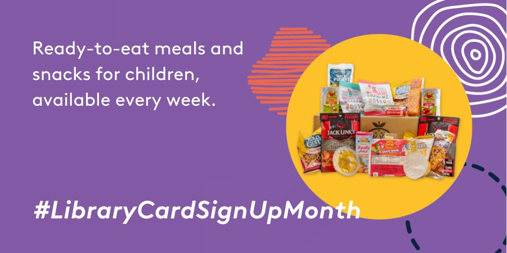 7 meals and snacks for kids, available every week. #LibraryCardSignUpMonth