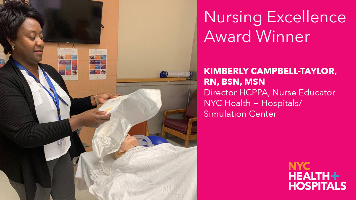Leading the City's Maternal Mortality Reduction Program, Nurse Educator Kimberly Campbell-Taylor of our Simulation Center uses simulation-based techniques to improve the quality of care she provides:  #HealthSimNYC #HCSimWeek20 @Ktaylorcam