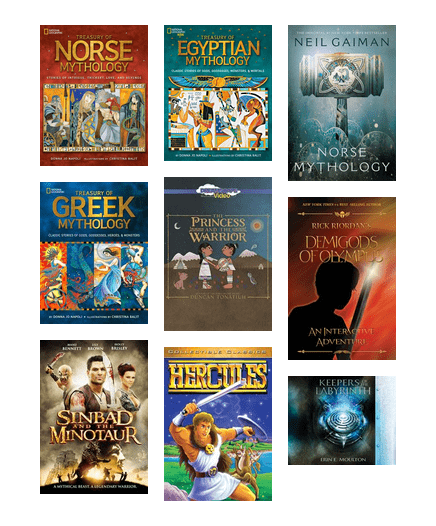 It's #staffpicksunday and we're back with another booklist! Read about mythological heroes such as the thunder god Thor, the one-eyed god and Allfather Odin, and the trickster god Loki.   To see the list, go here:   #mythology #books #getitonline